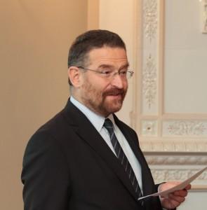"""Tomasz Komorowski, Lenkijos nacionalinio komiteto """"Pasaulio atmintis"""" narys. © V. Jadzgevičius"""
